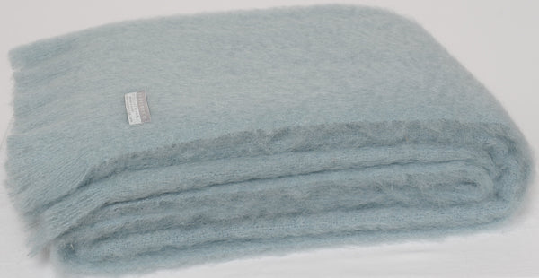 Glacier, New Zealand made Mohair Throw Blanket