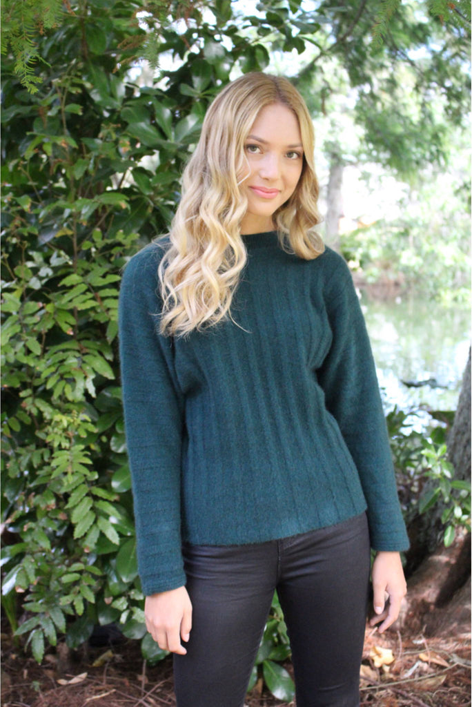 Lothlorian Groove Sweater in Merino Wool and Possum Fur