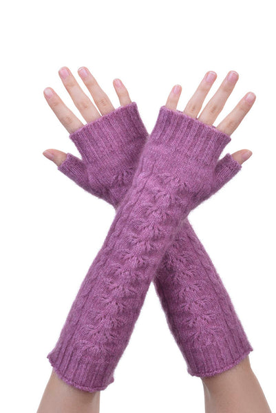 Fingerless Gloves in Heather,100% New Zealand Made Possum Fur & Merino Wool Knitwear