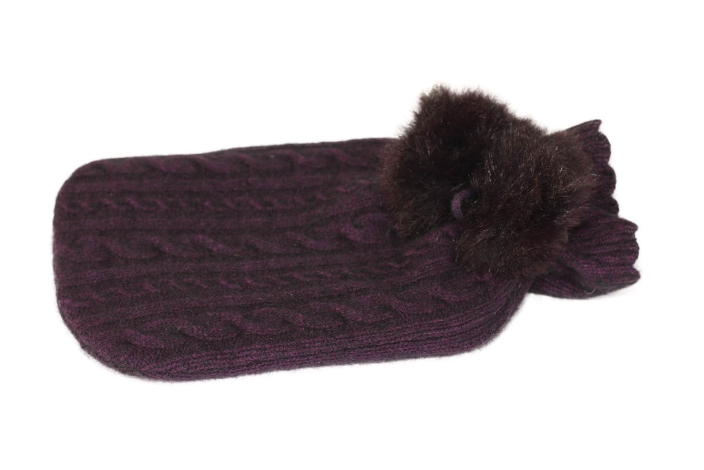 Koru Hot Water Bottle Cover in Merino Wool and Possum Fur