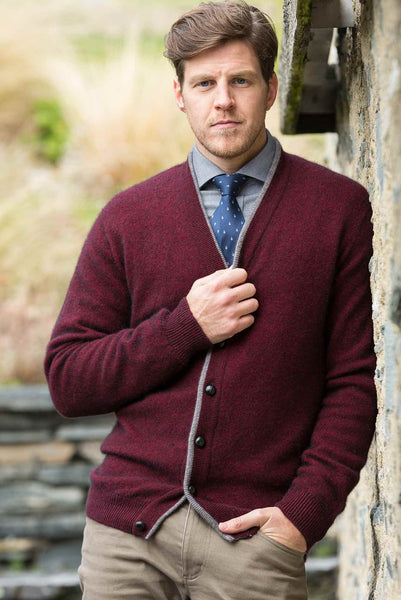 Noble Wilde Kent Cardigan in Merino Wool & Possum Fur