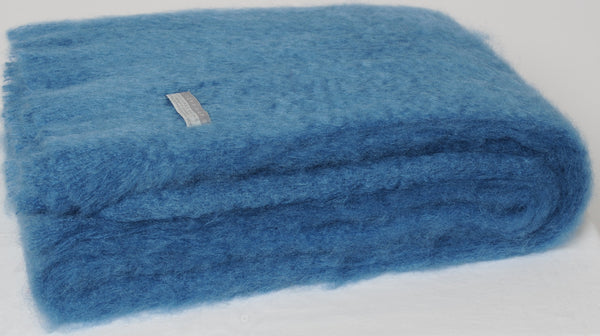 Lake, New Zealand Made Mohair Throw