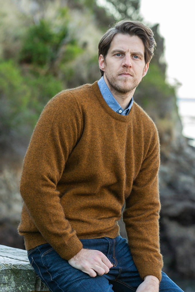 Noble Wilde - Cambridge Crew Sweater in Merino Wool & Possum Fur
