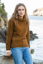 Load image into Gallery viewer, Noble Wilde Moss Stitch Cowl Sweater in Merino Wool and Possum Fur