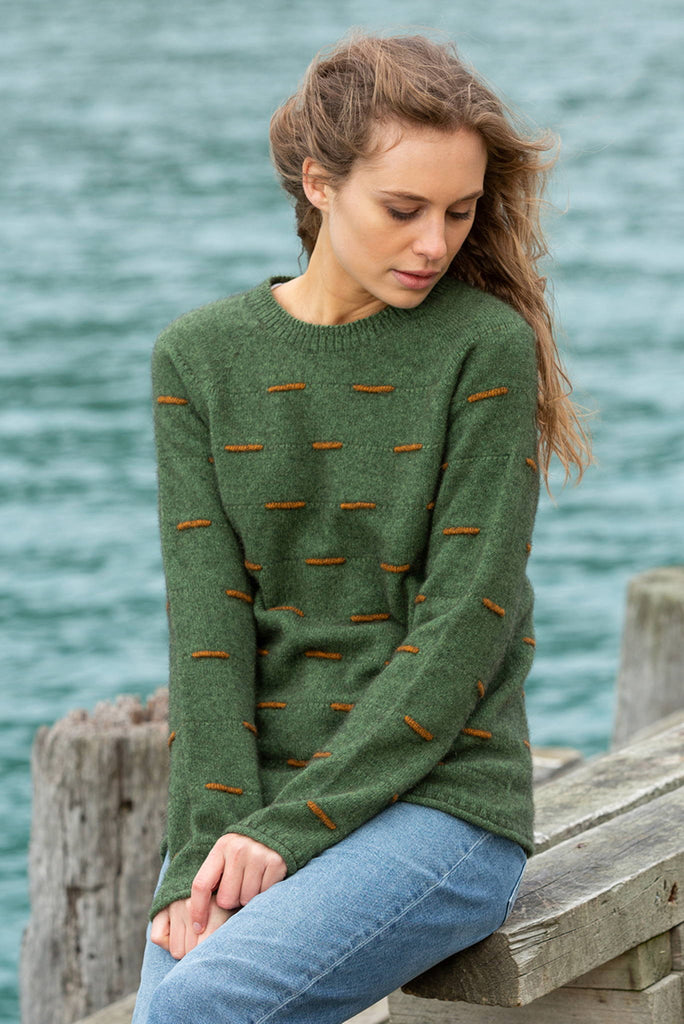 Noble Wilde Morse Code Crew Neck Sweater