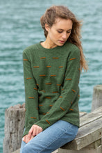 Load image into Gallery viewer, Noble Wilde Morse Code Crew Neck Sweater