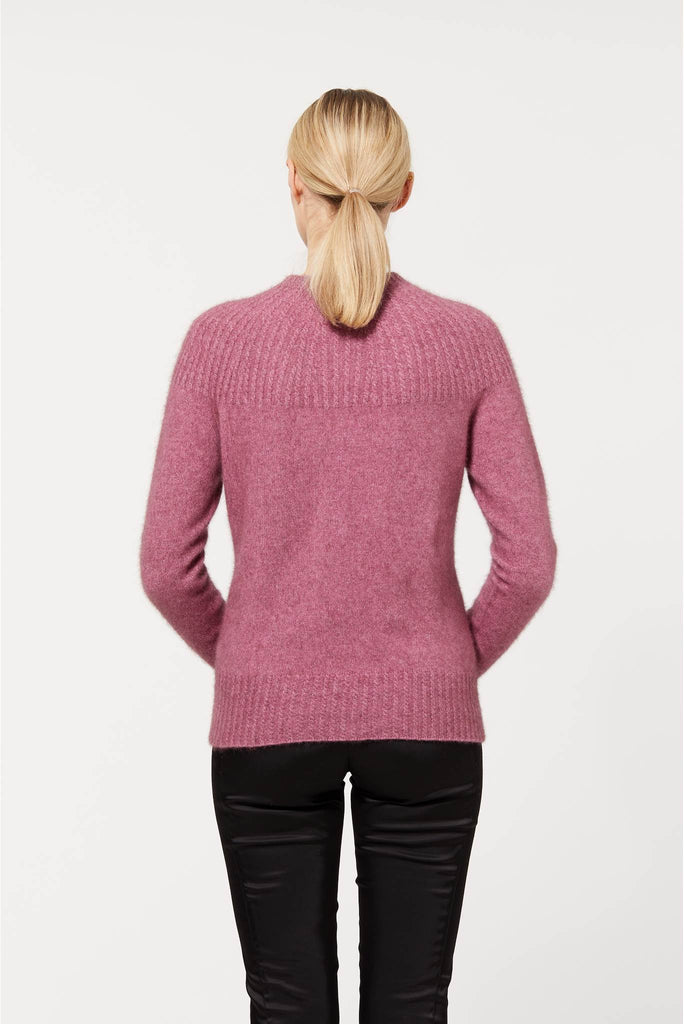 Merino Wool & Possum Fur York Jersey in Heather