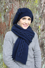 Load image into Gallery viewer, Lothlorian Possum Merino Beanie in Midnight