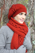 Load image into Gallery viewer, Lothlorian Possum Merino Beanie in Pumpkin