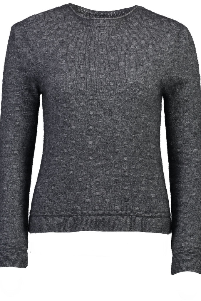 New Zealand made Possum Merino Knitwear in Pewter