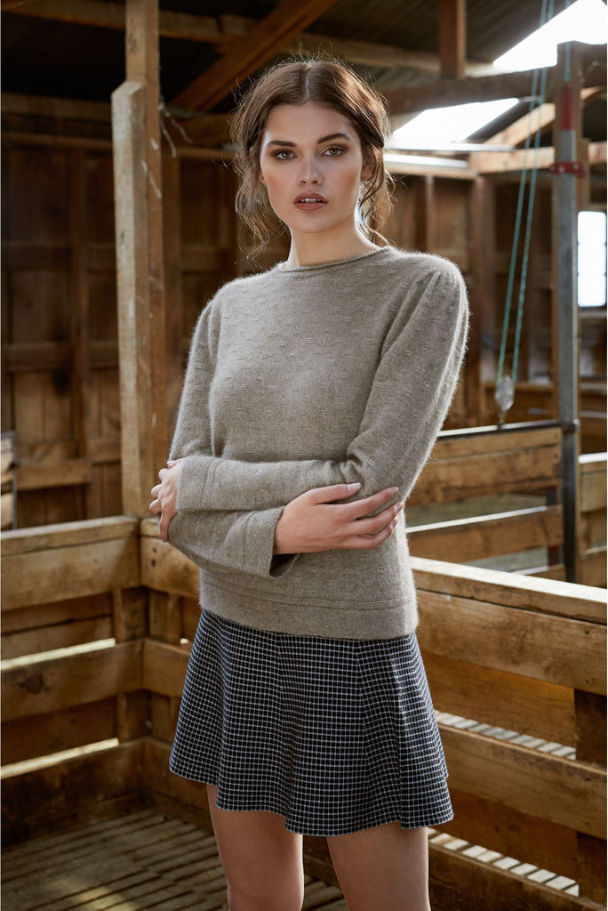 New Zealand made Possum Merino Knitwear in Mocha