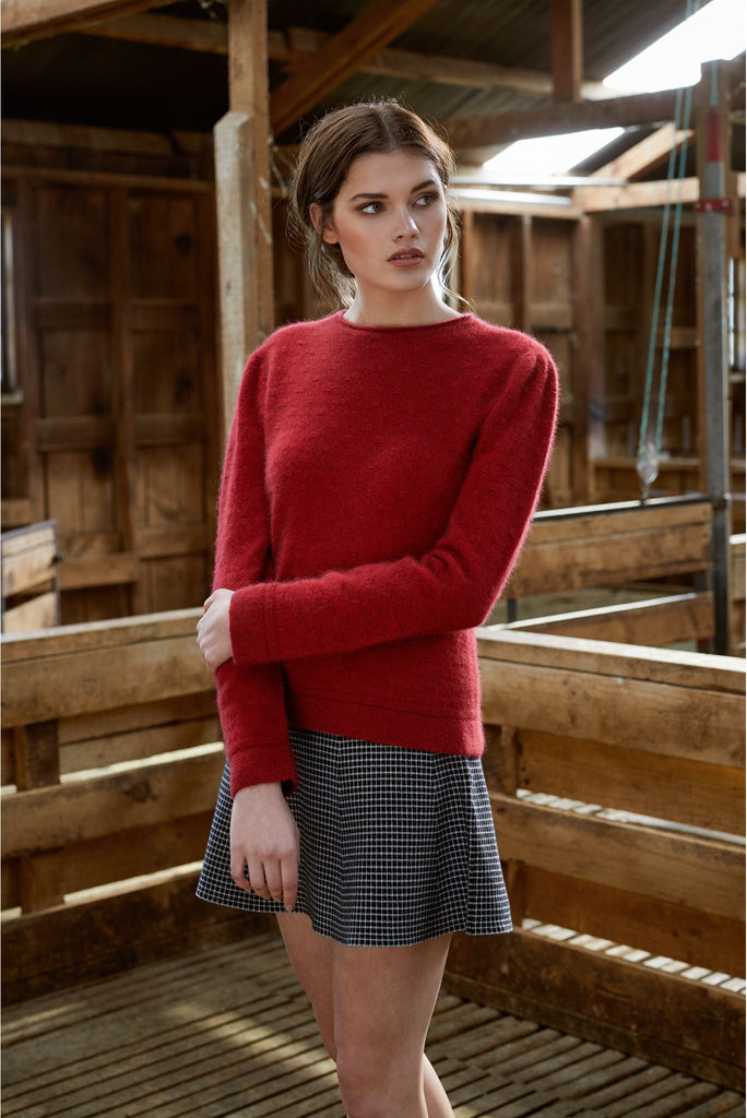 New Zealand made Possum Merino Knitwear in Red