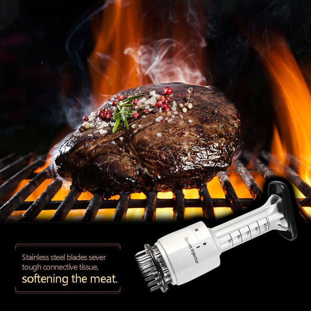 Meat Tenderizer Needle and Meat Injector Marinade Flavor