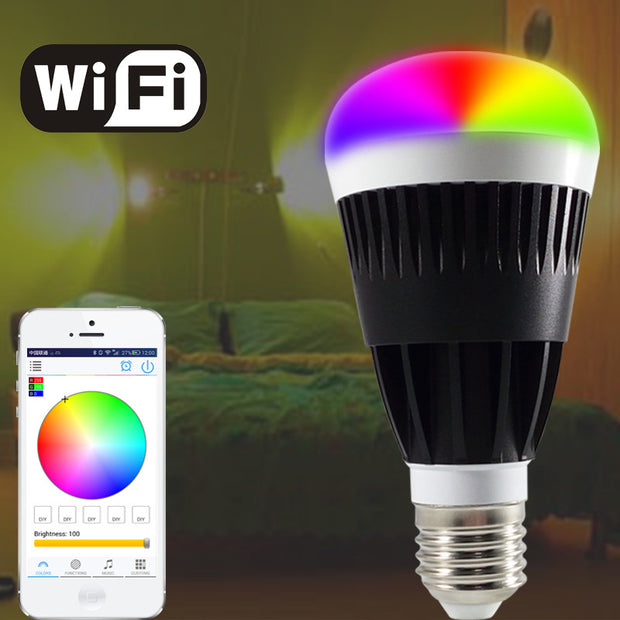 10W Smart RGB White Led bulb  Wifi Wireless
