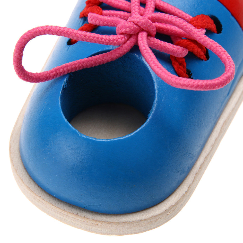 Lacing Shoes Early Education Montessori Teaching Aids