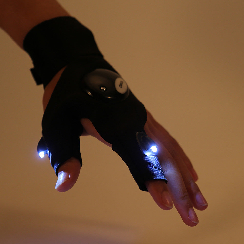Flashlight Glove Electric Night