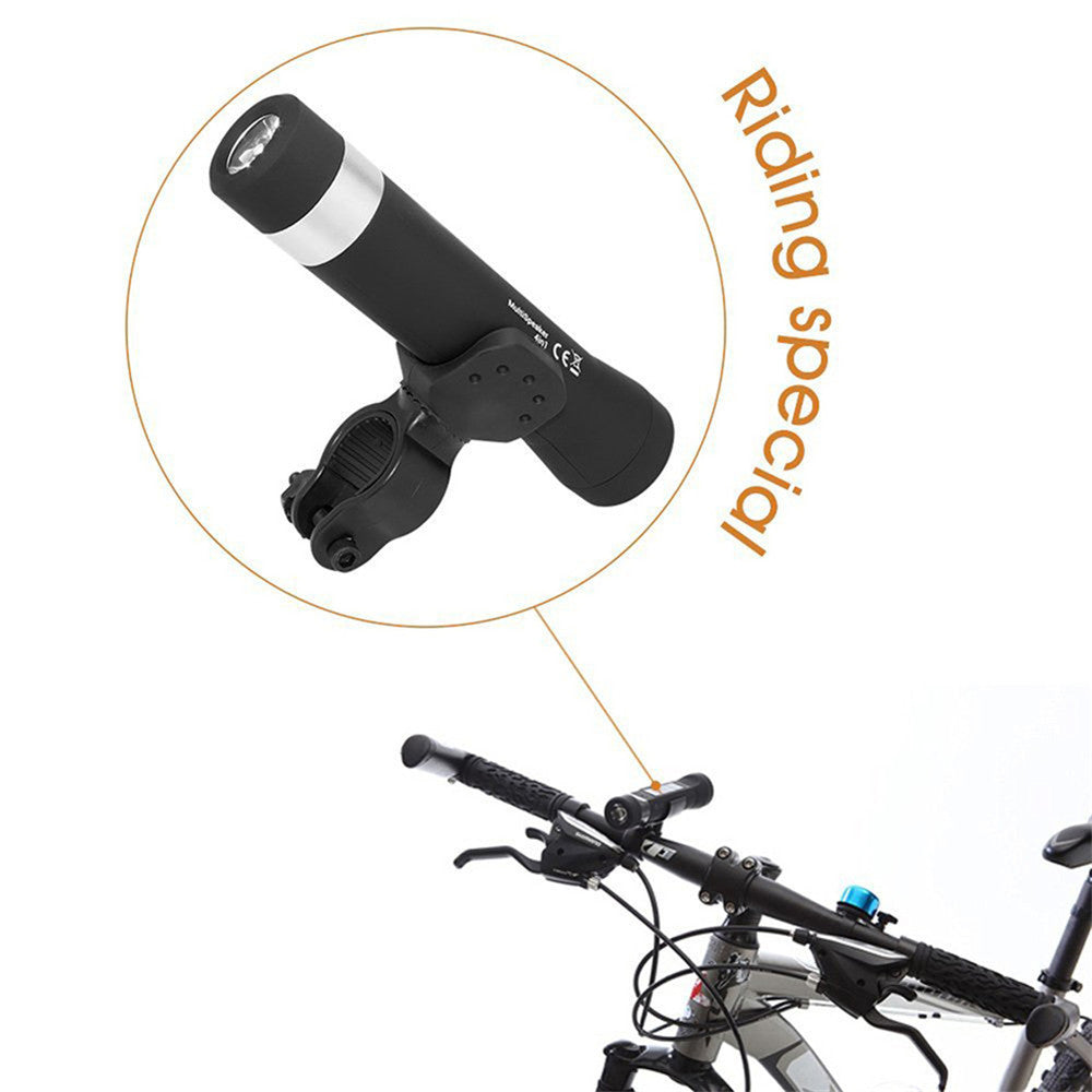 Sport Bicycle  Bluetooth Speaker LED Bike Light Lamp Power Bank For Mounting