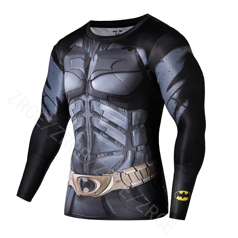 Bodybuilding  Fitness Compression Shirt Men T shirt 3D Printed