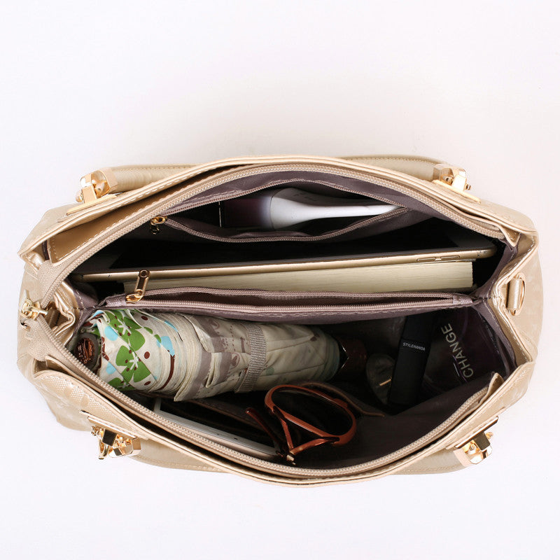 Fashion PU Leather  Tote Bag Elegant