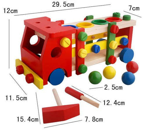 Educational Child Scrap Screw Car Disassembly Dismantable Removable Montessori