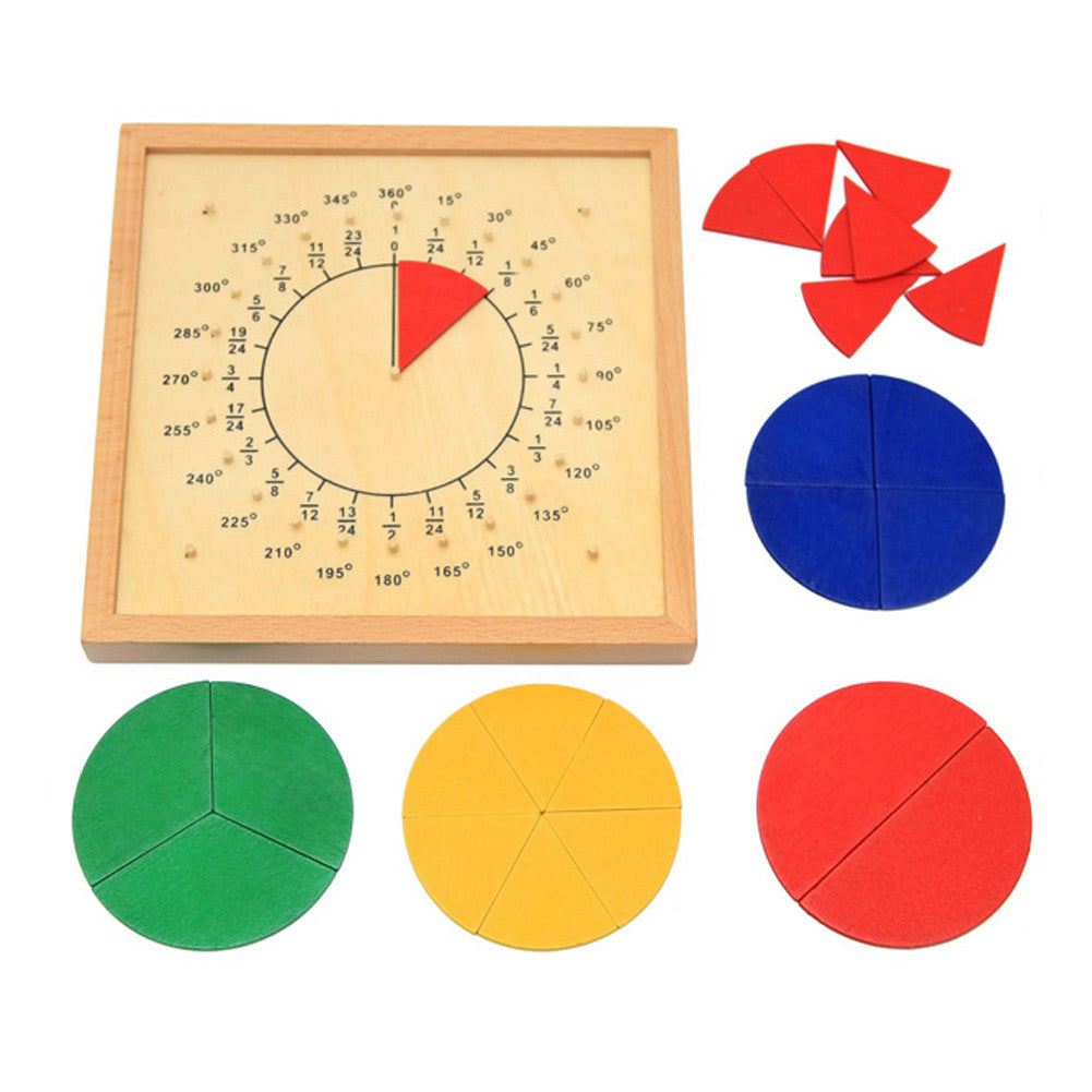 Circular Mathematics Fraction Division Teaching Aids Montessori