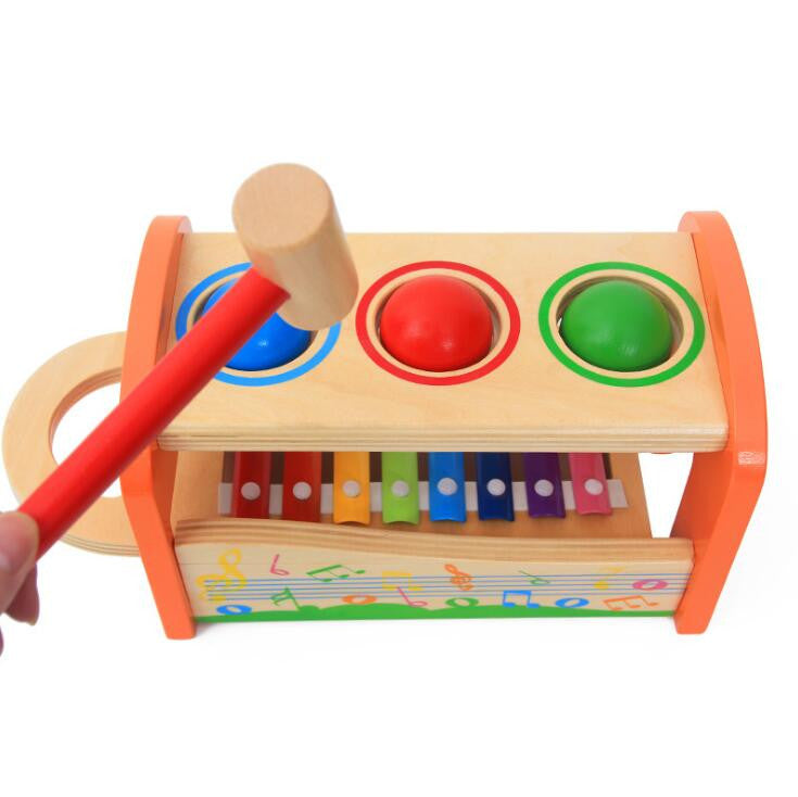 Brand Kids Pound & Tap Bench with Slide Out Xylophone For Toddlers Montessori