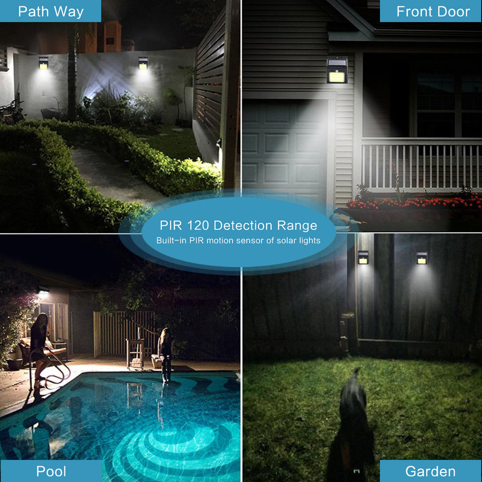 Solar Lights Outdoor, Wireless 24 LED Motion Sensor