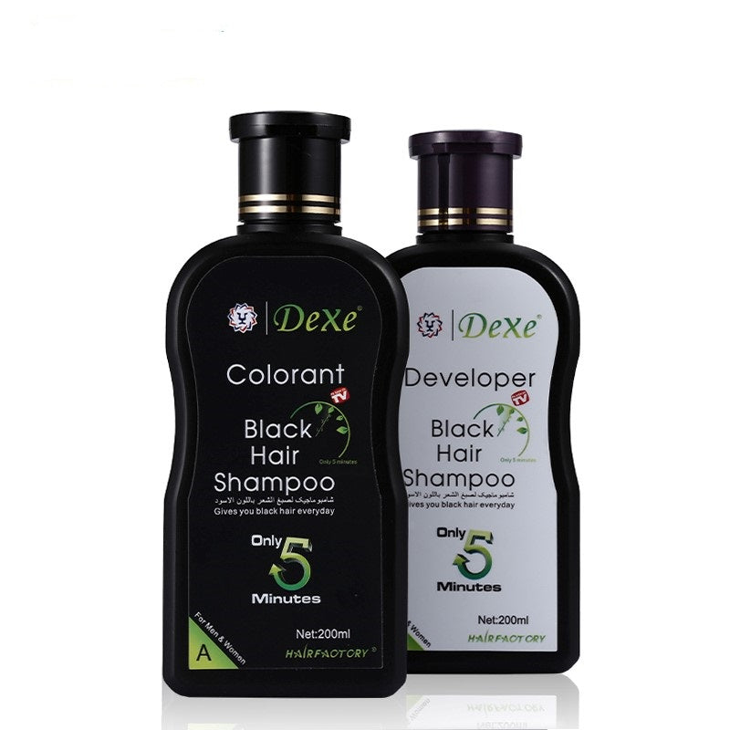 Set Black Hair Shampoo