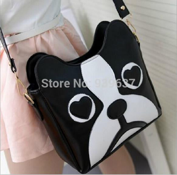 Fashion PU leather cute little dog pack Shoulder