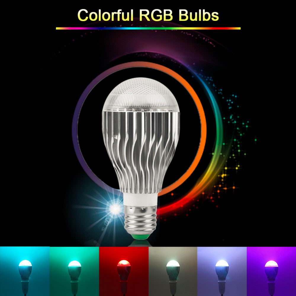 LED Lamp E27 RGB Dimmable Magic Color Remote Controller