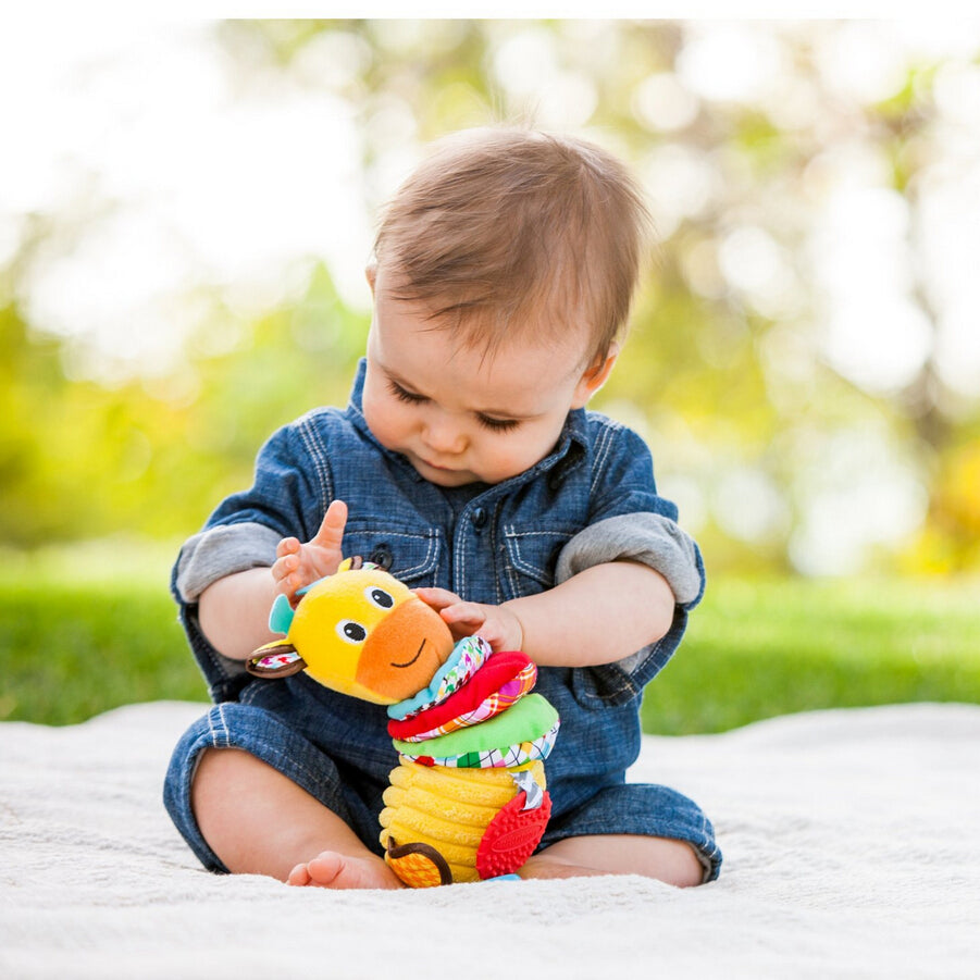 Twist Caterpillars Sound Hanging Baby Rattles with Teethers Multifunction
