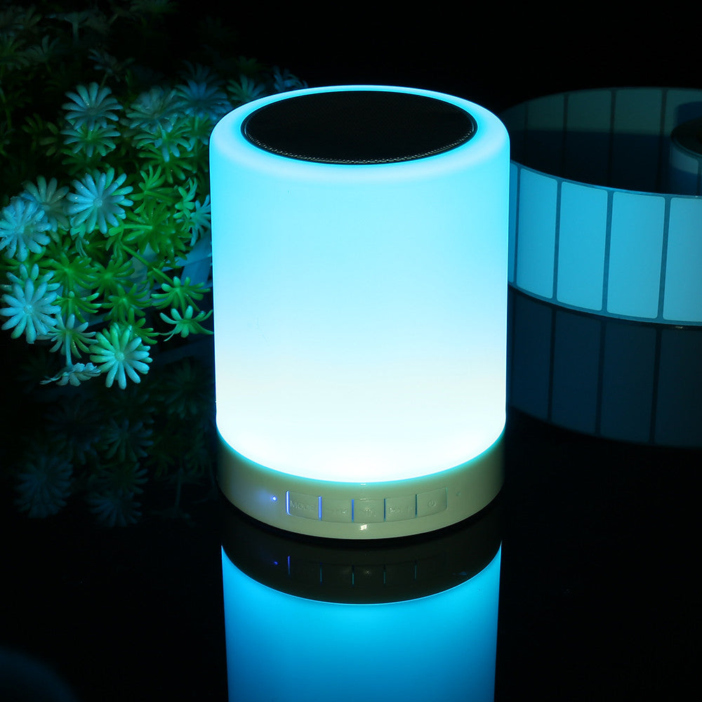Delightful LED Wireless Bluetooth Speaker Night Light Hands Free Call