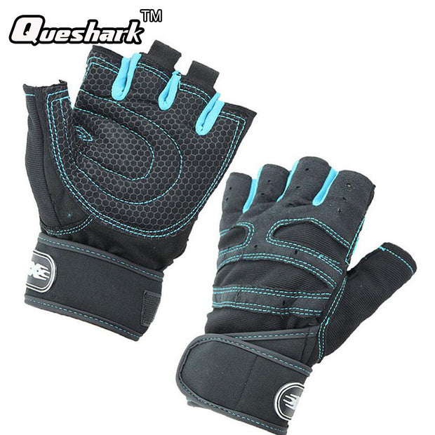 Men Fitness Shockproof Half Finger Gloves Non-Slip Breathable Bodybuilding Boxing