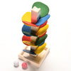 Montessori Educational Toy Blocks Wooden Tree Marble Ball Run