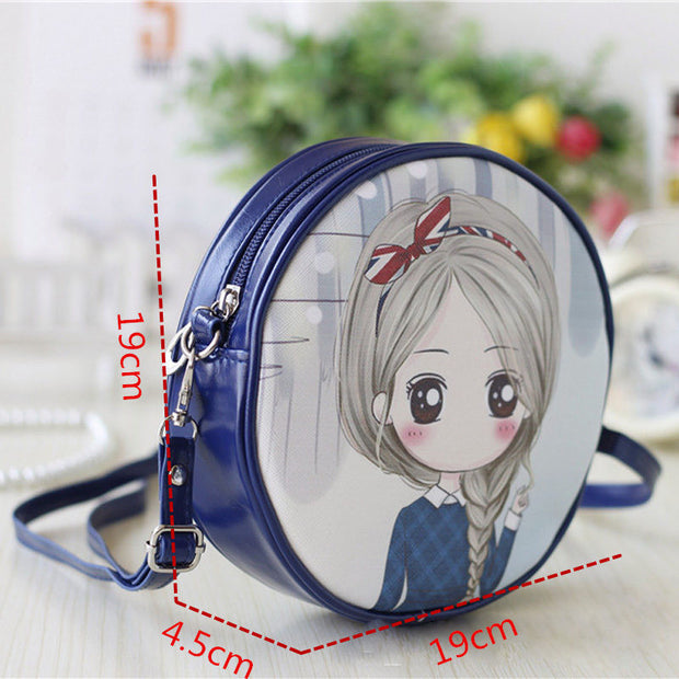 Osmond Small Shoulder Bags For Girls Cartoon Printing Bag Children Clutch Women Mini Leather Crossbody Bag