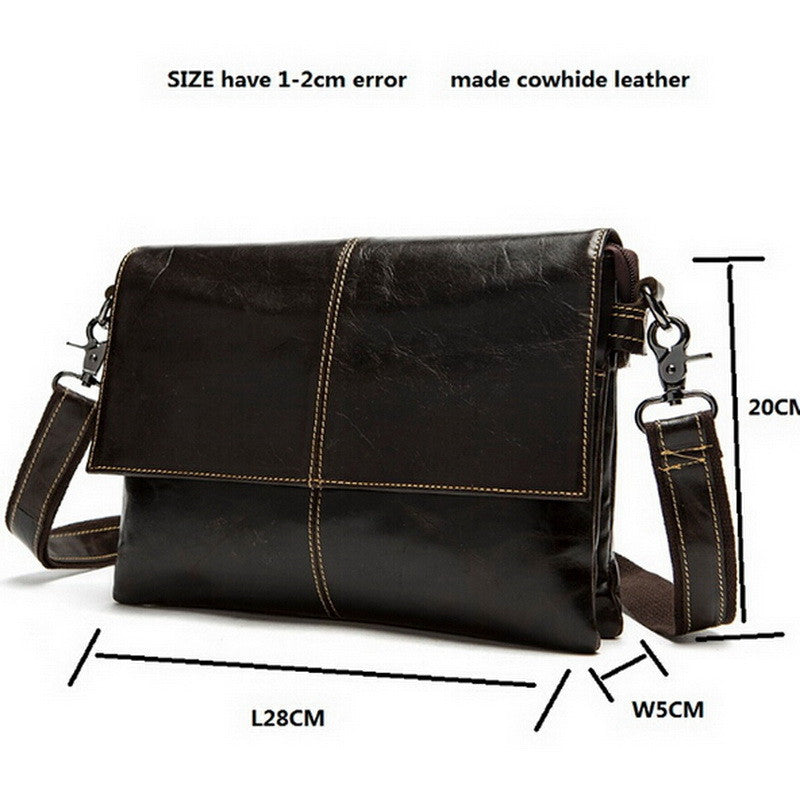 Genuine Leather Bag Men Messenger Bags Shoulder