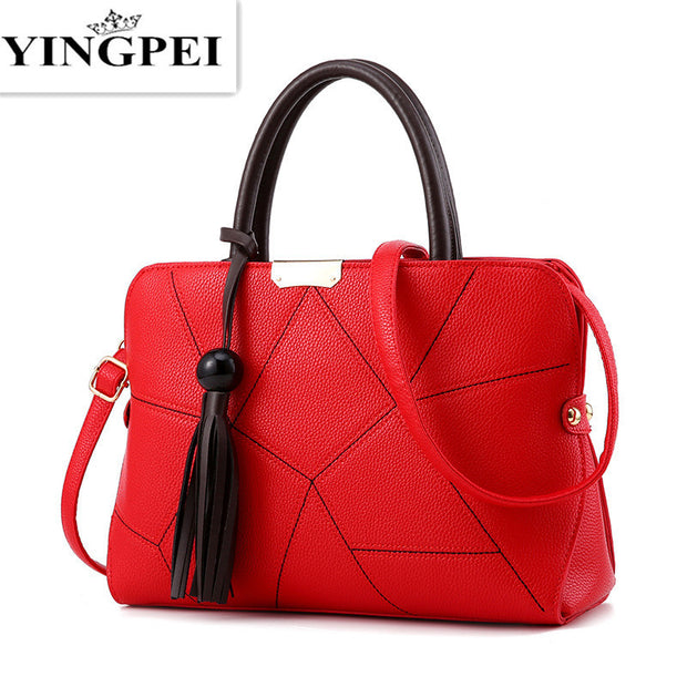 Leather Bag High Quality Tote Bag Tassel Gift
