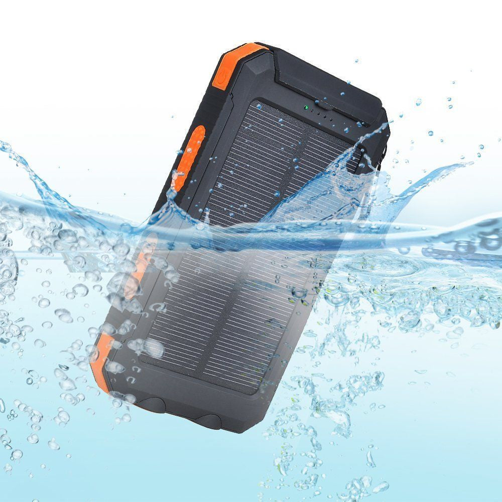 Waterproof Solar Power Bank with Dual USB (20,000 mAh)