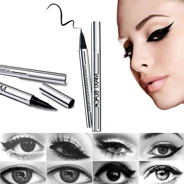 Waterproof Black Eyeliner Profecional