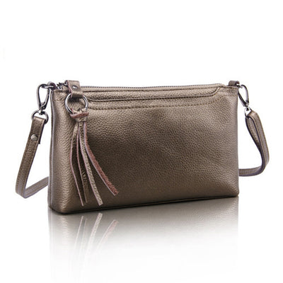 Genuine Leather Women Messenger Bags Tassel