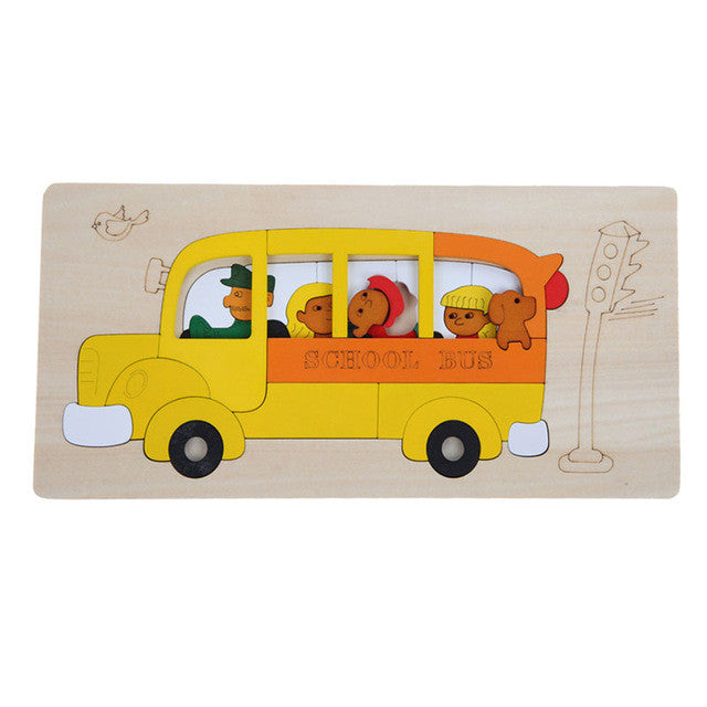 Transport Multi-dimensional 3D Montessori Toys for Children