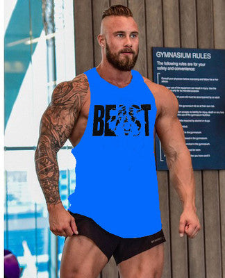 Bodybuilding Fitness Men Tank Top workout BEAST