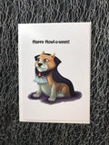 Vampire Corgi Blank Greeting Card