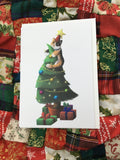 Christmas Sushi on the tree Blank Greeting Card