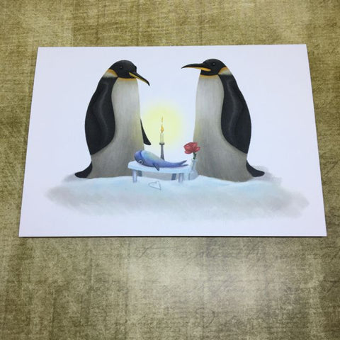 Love Penguins  Post Card