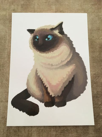 Cats: Himalayan Cat Blank Greeting Card