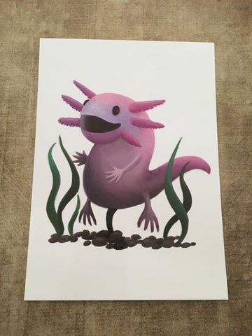 Axolotl Blank Greeting Card