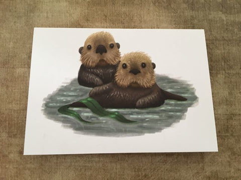 Sea Otters Post Card