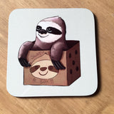 Sloth in a Box Coaster