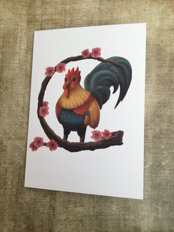 Cockerel Blank Greeting Card